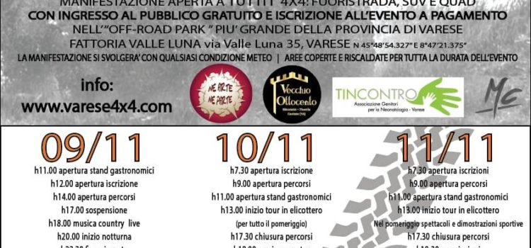 Varese BEER AND MUD FEST 4X4 – 9,10,11 NOVEMBRE 2018